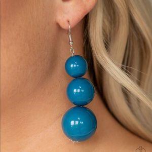 Material World Blue Earrings